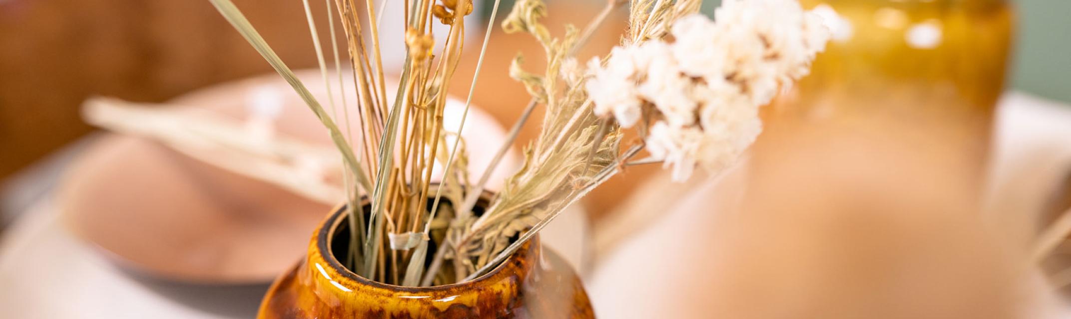Vazen voor droogbloemen