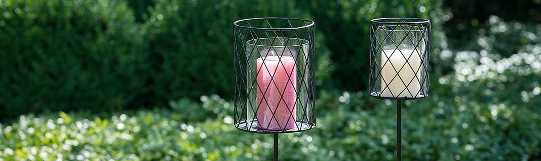 Candle holders for outdoors